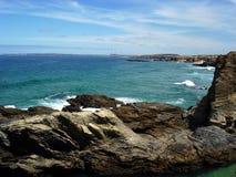 море Португалии скал Стоковое фото RF