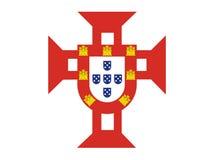море Португалии флага Стоковое Изображение