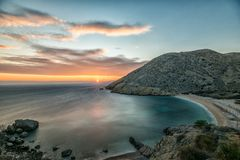 Море природы Хорватии заволакивает небо Стоковая Фотография RF