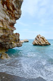 море пристани footpath пляжа к стоковое изображение rf