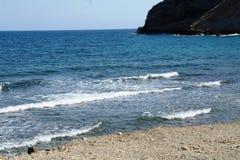 море пристани footpath пляжа к Стоковая Фотография