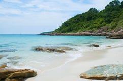 море пристани footpath пляжа к Стоковое Фото
