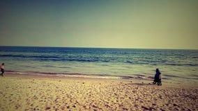 море пристани footpath пляжа к Стоковое Изображение