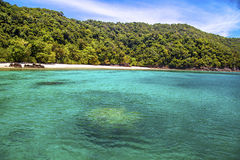 море пляжа красивейшее тропическое Стоковое Изображение