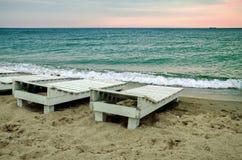 море пляжа черное Стоковое Фото