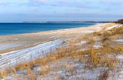 Море, пляж, море, песок, дюны, трава, Балтийское море Стоковые Изображения RF