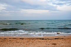 Море Пляж шторм Стоковые Изображения