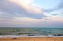 Море Пляж шторм Стоковая Фотография