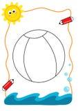 море расцветки книги шарика Стоковое Изображение