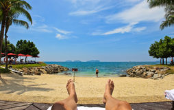 море релаксации пляжа Стоковое Фото