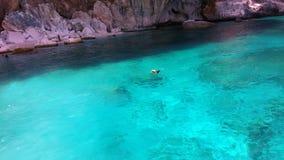 Море Сардинии, летних каникулов в Италии Стоковое фото RF