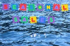 море сбываний сезонное Стоковое фото RF