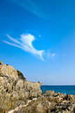 море свободного полета облицовывает воду Стоковые Фото