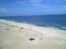 море свободного полета пляжа черное Стоковая Фотография RF