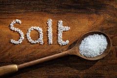 море соли состава предпосылки закрытое Стоковые Изображения
