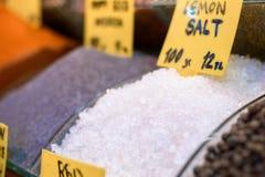 море соли состава предпосылки закрытое Стоковая Фотография RF