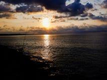 Море с облаками на солнечности Стоковое фото RF