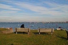 Море с шлюпками Стоковое Изображение