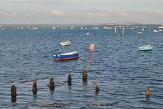 Море с шлюпками Стоковые Изображения RF