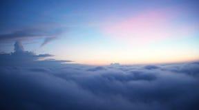 Море тумана Стоковое фото RF