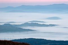Море тумана Стоковые Изображения
