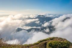 Море тумана Стоковые Фотографии RF