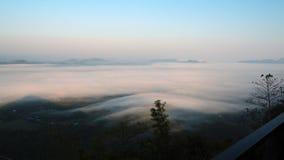 Море тумана Стоковая Фотография
