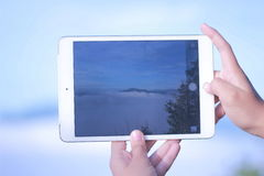 Море тумана Стоковое Фото