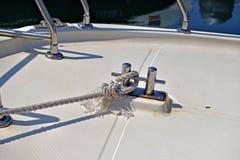 море узла пала шлюпки предпосылки голубое Стоковая Фотография RF