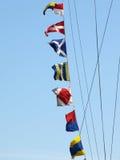 море флагов сигнала тревоги Стоковое Фото