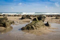 Море Флорида пляжа и камня атлантическое Стоковое Изображение RF