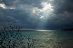 Море Чудесное отключение к Чёрному морю, даче ` s Chekhov! Стоковое Изображение