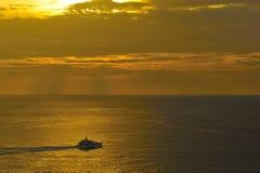 море шлюпки золотистое Стоковая Фотография