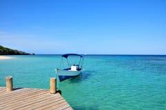 море шлюпки карибское причаленное Стоковые Фотографии RF