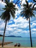 2 море шлюпки кокоса 2 Стоковые Изображения