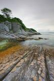 Море японии. Осень. Заход солнца 5 стоковое фото