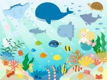 Море animals2 иллюстрация вектора