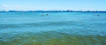 Море Capoliveri в Тоскане, в острове Эльбы, Италия Стоковое Изображение RF
