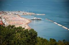 Море gabicce ландшафта к San Bartolo Италии стоковые фото