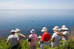 море hikers Стоковые Изображения
