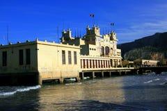 море mondello вольности Италии здания пляжа Стоковые Изображения RF