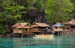 море philippines шлюпки стоковое изображение