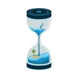 Море Sandclock и часы Стоковая Фотография