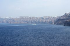 Море Santorini Стоковое Изображение