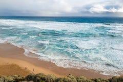Море Tasman, Виктория, Австралия Стоковые Фотографии RF