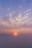 море valle зоны провинции messi Италии Ломбардии тумана delle заволакивания brixia Стоковое фото RF