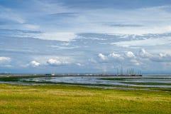 Море Wadden заболоченных мест стоковые фото