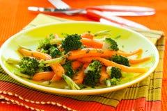 моркови брокколи стоковые фото