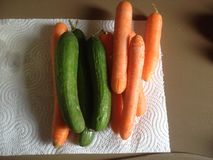 Моркови и огурцы Стоковое фото RF