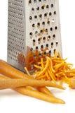 Моркови и терка протиркой стоковая фотография rf